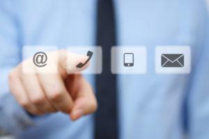 kukac, telefon, okostelefon és boríték ikonok