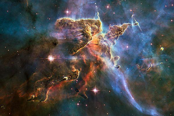 űrteleszkóp által készített kép a világűrről és az Androméda ködről